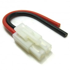 Male Tamiya Connector With 10cm 14AWG Silicone Wire