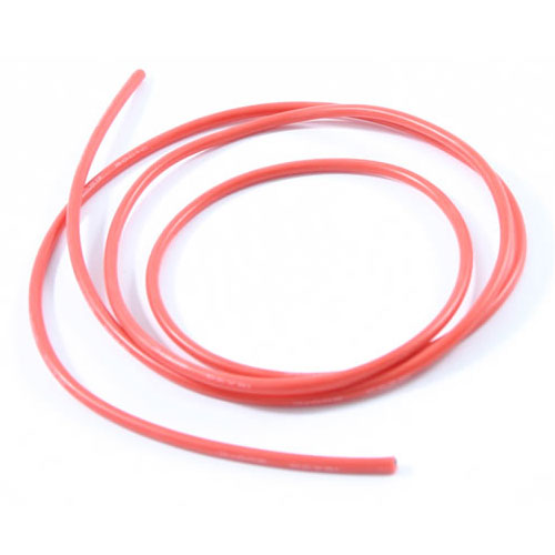 12swg Silicone Wire Red (100cm)