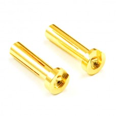 Etronix Low Profile 4.0mm Male Gold Connector (2) For Right Angle